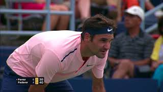 Roger Federer fights off David Ferrer In Montreal to reach the Rogers Cup quarter-finals.