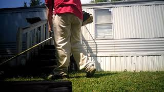10. 8th lawn cutting video 2018, quick cutting with the stihl fs 56rc weed eater