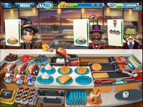 Cooking Fever - Sunset Waffles (Halloween) All 3 Stars