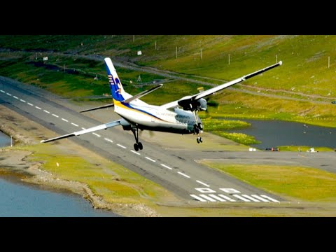 Approach - Watch in HD! Fokker 50 of Air Iceland landing at Isafjordur airport BIIS in remote West Fjords in Iceland. Air Iceland flies to this airport daily and has be...