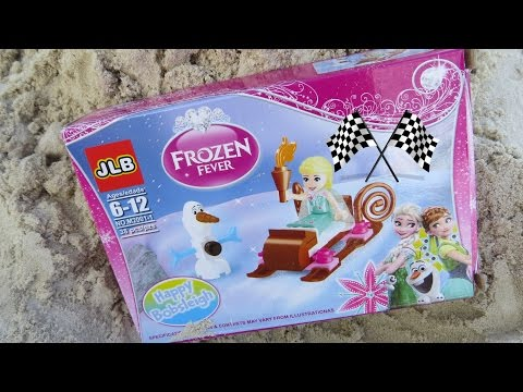 Mainan anak bermain pasir pantai - Happy bobsleigh bobsled frozen fever child toy @LifiaTubeHD