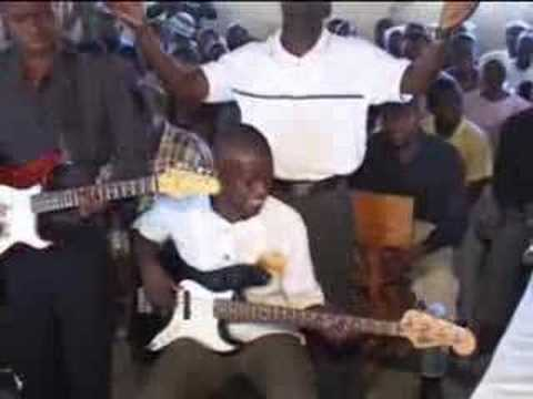 worship service at church in Haiti
