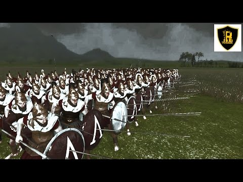 Царские Спартанцы VS Присягнувшие Total War: Rome 2 (тест отрядов)