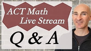 ACT Math Live Stream Q & A with Mario's Math Tutoring. We will start off discussing imaginary and complex numbers the open up the live stream to questions and answers. For more help check out my Huge ACT Math Review Video Course for sale that covers 65 math concepts you want to know for the ACT as well as teaching, example problems and tips. http://mariosmathtutoring.teachable.comIf you are interested in online tutoring contact me to set up a session. We can do online tutoring or tutoring via FaceTime for Apple Users.After taking my Huge ACT Math Review Video Course put the knowledge into practice with: Get the 2016-2017 Official ACT Prep Guide for Practice with formerly administered testshttp://amzn.to/2u94KbiAnother good ACT guide is the Real ACT Guide with official practice tests:http://amzn.to/2vDDUHVNow out also is the 2018 Official  ACT Prep Guidehttp://amzn.to/2uB0cwW