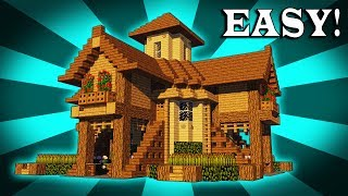 How To Build A EPIC Wooden House In Minecraft!