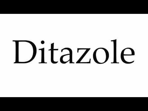 How to Pronounce Ditazole