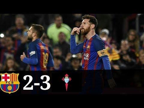 Barcelona vs Celta Vigo 2-3 All Goals And Highlights LaLiga