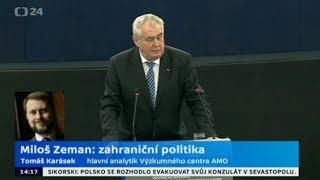 Speciál ČT: Rok od inaugurace Miloše Zemana