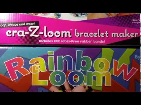 Rainbow Loom vs Cra-Z-Loom Rubber Band Kit Comparison