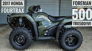 3. 2017 Honda Foreman 500 4x4 ATV (TRX500FM1H) Walk-Around Video | Olive | HondaProKevin.com