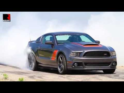 2014 Roush Stage 3 Mustang does 60-second burnout