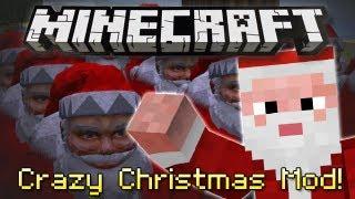 Minecraft   CRAZY CHRISTMAS MOD!   3D Santa, Xmas Trees&Baubles! [1.4.6]
