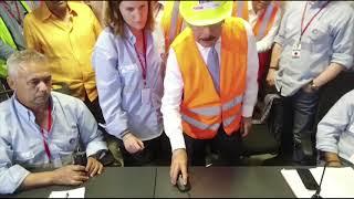 Presidente Danilo Medina enciende Termoeléctrica Punta Catalina.