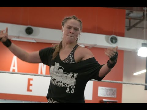 Ronda Rousey gets ready for WrestleMania 34