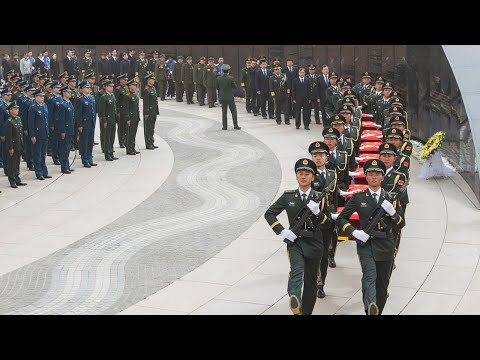 Live: Burial ceremony takes place for remains of Chinese soldiers第七批在韩志愿军烈士遗骸归国安葬仪式