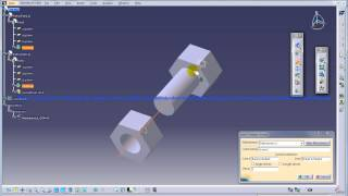 Catia V5|Digital Mockup|DMU Kinematics|Screw Joint Simulation|Complete