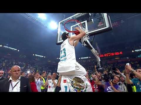 Sergio Llull cuts the net!