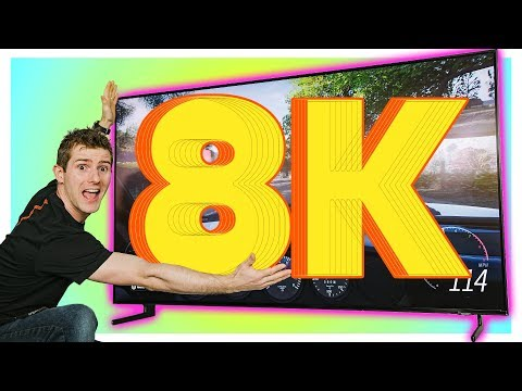 GAMING On The First 8K TV!!!!