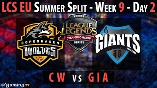 Copenhagen Wolves vs Giants Gaming - LCS EU 2015 - Summer Split - Week 9 - Day 2 - CW vs GIA [FR]