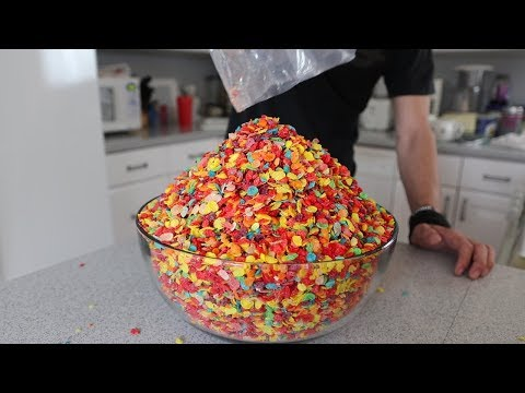 Matt Stonie Attempts to Eat a Gigantic Bowl of Fruity