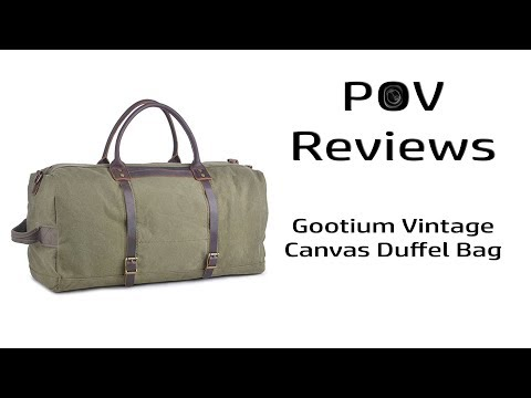 Review - Gootium Canvas Duffel Bag (Army Green)