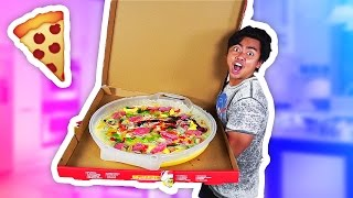 DIY How To Make GIANT GUMMY PIZZA!