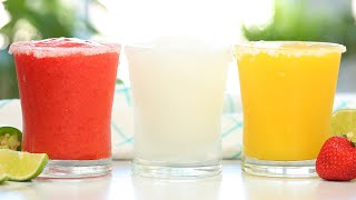 Frozen Margaritas 3 Delicious Ways | Frosty Summer Drinks by The Domestic Geek