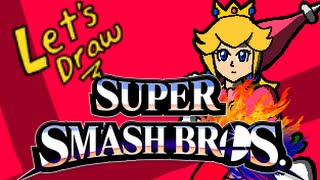 Drawing Every Smash Fighter – Peach