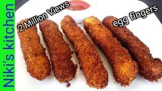 மொறு மொறு முட்டை ரெஸிபி/Crunchy and tasty Egg fingers in tamil/Kids snacks recipe/Niki's Kitchen😋👌