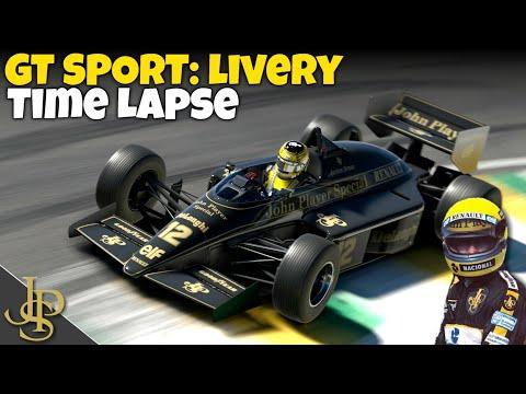 GT SPORT: Lotus 98T Replica - Senna Tribute - Livery Time Lapse
