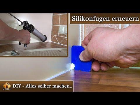 Silikonfugen erneuern / Anleitung & Tipps - auch für  ...