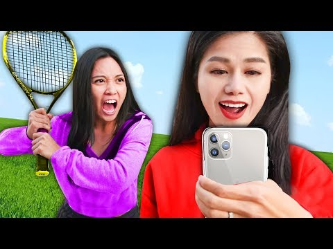 REGINA vs SPY NINJAS! Hacker Tennis Battle Challenge of Unexpected Trick Shots for Secret Files