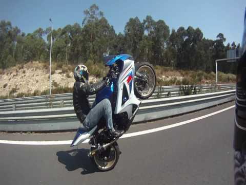 Long Wheelies GSXR 1000 k8 - GO PRO HD