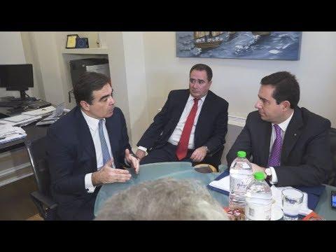 Με τον Μαργαρίτη Σχοινά συναντήθηκε ο υπουργός Μετανάστευσης και Ασύλου, Νότης Μηταράκη