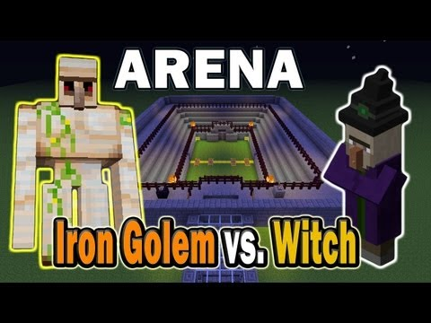 Minecraft Arena Battle Iron Golem vs. Witch