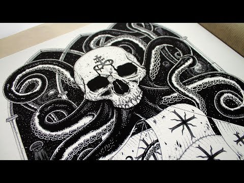 Nautical Skull and Shipwreck Design | Unrequited | Limited Edition Print Release