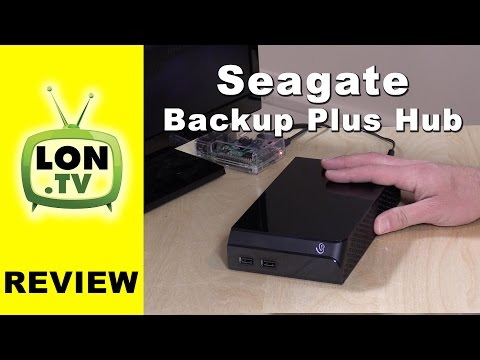 Seagate Backup Plus Hub Review - Hard Drive with Built in USB 3.0 Hub !