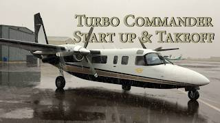 Video Turbo Commander - Start Up Procedures & Takeoff MP3, 3GP, MP4, WEBM, AVI, FLV Desember 2018