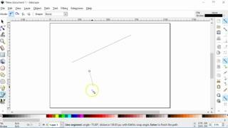 Using Inkscape - Draw Straight a Line for Beginners/Newbies. This is a basic tutorial for those very new to Inkscape.
