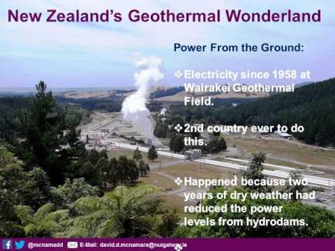New Zealand's Geothermal Wonderland - Dr David McNamara
