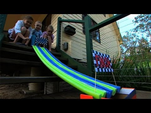 Better Homes and Gardens - Tara's Pool noodle race course project