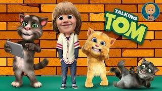 Talking Tom Cat funny videos in english - Kids Babies Game - GERTIT vs Tom Cat Screaming