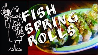How to Put a Yellowtail  Inside Your Spring Roll.