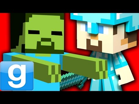 FUNNY MINECRAFT ROLEPLAY!! – Gmod Minecraft Playermodel & Pills Mod (Garry's Mod)
