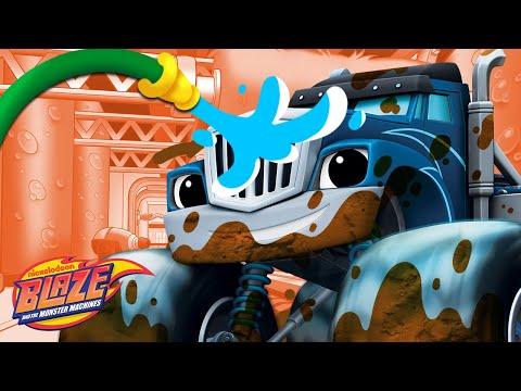 Car Wash Surprise #3 w/ the Monster Machines! | Blaze and the Monster Machines