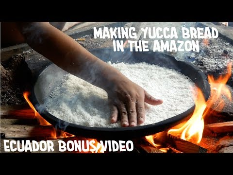 Cooking Yucca Bread In The Amazon [Ecuador - Bonus Video]