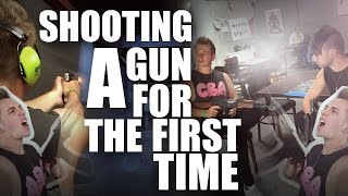 ► SHOOTING A GUN FOR THE FIRST TIME!! ► Give this video a THUMBS UP and a COMMENT if you liked it! ► Subscribe now!! http://is.gd/DEANYouTube I hope you enjo...