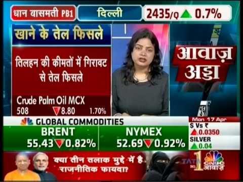 CNBC Awaaz Commodity Call, 17 April 2017 - Mr. Prathamesh Mallya - Angel Broking