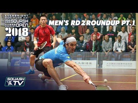 Squash: Men's Rd 2 Roundup Pt. 1 - Hong Kong Open 2018