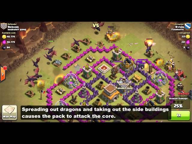 Clan wars th7 th8 dragon attack strategy spreading mp3downloadonline
